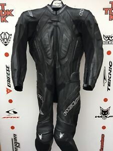 Wolf Titanium one piece leather race suit with hump uk 40 euro 50