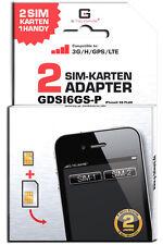 Adattatore DUAL SIM iPhone 6s Plus/GDSI 6gs-p/2 anni di garanzia del produttore/plurilingue