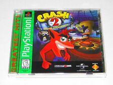 Crash Bandicoot 2 Cortex strikes back PlayStation 1 Ps1 100% complete video game