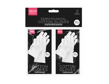 White Cotton Gloves - 2 Pack. Dermatological, Help Protect Damaged Skin