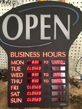 """Newon LED Lighted Business""""Open"""" Sign, Electronic Programmable Business Hours"""