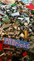 100 lego pieces, from bulk lot random star wars pirates city space + minifigure