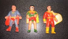 Vintage DC Comics Pencil Toppers Superman Robin Captain Marvel Shazam Figures
