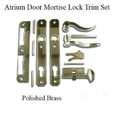 ATRIUM DOOR MORTISE LOCK TRIM SET - POLISHED BRASS