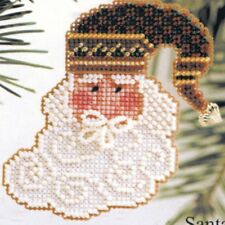 Charming Santa Beaded Ornament Kit Mill Hill 2002 Charmed Santa Faces