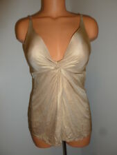 Victoria's Secret Very Sexy 34B twist front gold sheen padded plunge shapewear