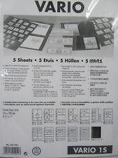 Leuchtturm Vario-Hüllen 5er Pack schwarz oder glasklar n. Wahl, auch Vario-Plus