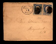 Circa 1890 Rural Mass Cover to Raymond NH - L29427