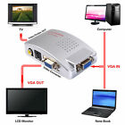 Computer VGA to TV RCA Composite Converter Adapter S-Video Box PC Laptop LCD OU