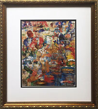 "LeRoy Neiman ""International Cuisine"" Custom FRAMED Art print COOKING Culinary"