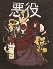 EXCLUSIVE Marvel Shirt 2XL: ANIME X-Men Villains! Magneto,Deathstrike,Juggernaut