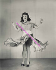 1940s ACTRESS FAY McKENZIE DRESS UP IN THE AIR UPSKIRT LEGGY PHOTO A-FMK