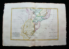 1787 BONNE & DESMAREST -Original map of SOUTH AMERICA, BRAZIL, ARGENTINA BOLIVIA