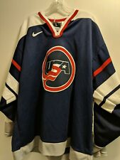 VINTAGE 90'S  NIKE Team Sports USA Olympic Hockey Jersey- Size Large