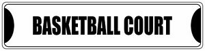 Aluminum Weatherproof Road Street Signs Basketball Court Home Decor Wall