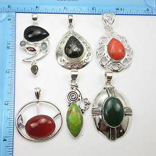 FREE SHIPPING Wholesale LOT 925 Silver Overlay Pendant Jewelry 6 Pcs