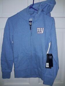 New York Giants football Hooded Sweatshirt Jacket NFL apparel shirt NEW Ladies S