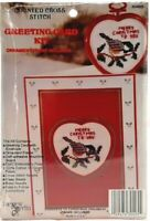 1990s Counted Cross Stitch Kit Christmas Card & Ornament Merry Christmas 7400F
