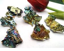100g Bismuth rainbow bright crystal geode each weight 18-60g element Bi Mineral
