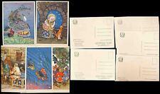 RUSSIA FOLK TALES 5 CARDS c1930 PPCs