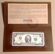 150th Anniversary Issue 2012 $2 Single Note Two Dollar Bill # J2012XXXXD LIMITE