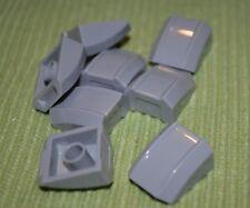 (8) 2x2 Light Gray Specialty Cover w/ Ridges Bricks  ~ Lego ~ NEW ~