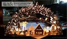 Vorlage großer Schwibbogen 3D-Dorfpanorama mit Haus 64cm Laubsägevorlage