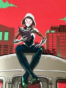 """Spider-Gwen Into The Spider-verse Screen Print by Tim Doyle. Signed. 20""""x30"""""""
