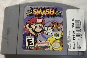 Super Smash Bros Authentic Original For Nintendo 64 Tested Rare N64-118R