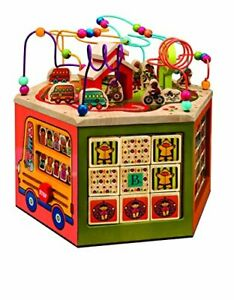 B toys – Wooden Activity Cube – Youniversity – Activity Center for Kids 1
