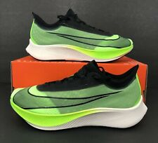 Nike Zoom Fly 3 Electric Green Black Running Shoes AT8240-300 Men's Sz 9.5