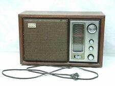 Vintage Sony Model ICF-9650W High Fidelity FM/AM Table Radio - WORKS