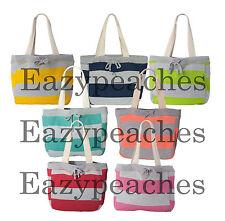 MV Sport - Pro Weave Striped Beach Comber Bag, Lined Tote, Swim, Picnic, 3394