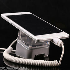 Acrylic Mobile Retail Stand Magnetic Sticker Fix Alarm Charger Smartphone Holder