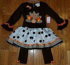 NWT Girls EMILY ROSE THANKSGIVING TURKEY Tutu Dress Outfit Size 5