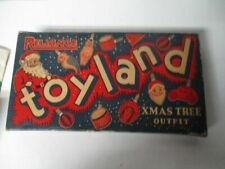 Very Old Reliance TOYLAND Figural Christmas Light Set in Impossible to Find Box
