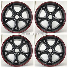 "17"" 2018 FK8 TYPE R STYLE FITS HONDA CIVIC SI NEW GLOSS BLACK ALLOY WHEELS SET 4"
