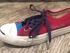 CONVERSE JACK PURCELL Blue/Maroon Low Top Shoes Size Men 6, Women 7.5