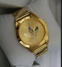 Reloj Adidas Dorado Oro Acero Hombre Mujer Ideal Regalo Casual 2016 Navidad  Treb