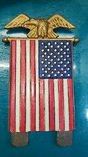 Midwest of Cannon Falls Cast iron doorknocker topper American Flag Bald eagle.