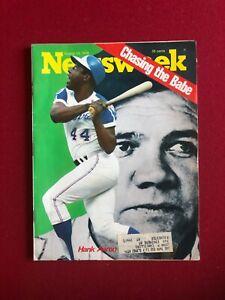 "1973, Hank Aaron, ""Newsweek"" Magazine (Scarce / Vintage) Babe Ruth"