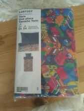 NEW Ikea Lustigt Twin Duvet Cover & Pillowcase Kids Toys Multicolor