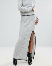 NWT Urban Bliss Knitted Pencil Skirt with Thigh Split in Gray, Sz. S