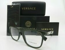 Versace Green Olive & Silver Metal Men Rx Glasses, New wCase MOD 3252 5193 52mm