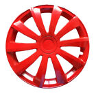"""4x16"""" Wheel trims covers fit VW Volkswagen Sharan 16"""" red full set x 4"""