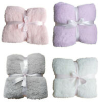 Home Super Soft Warm Throw Plush Blanket Sofa Home Bedroom Fleece Twin Full Size