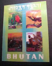 Souvenir Sheets Bhutan  Scott#  104Gi Birds 1942  MH C451