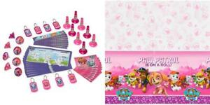 49pc Paw Patrol Skye & Everest Pink Girls Birthday Party Supplies Pack 8 Guests
