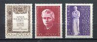35771) Poland 1967 MNH Marie Sklodowska Curie 3v. Scott #