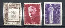 35771) POLAND 1967 MNH** Marie Sklodowska Curie 3v. Scott#